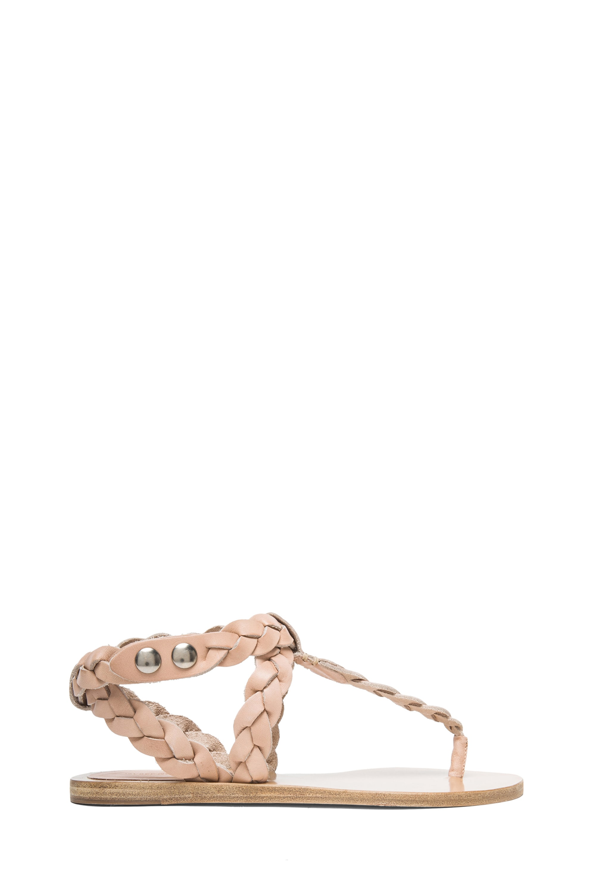 Image 1 of Isabel Marant Brina Braided Calfskin Leather Sandals in Nude