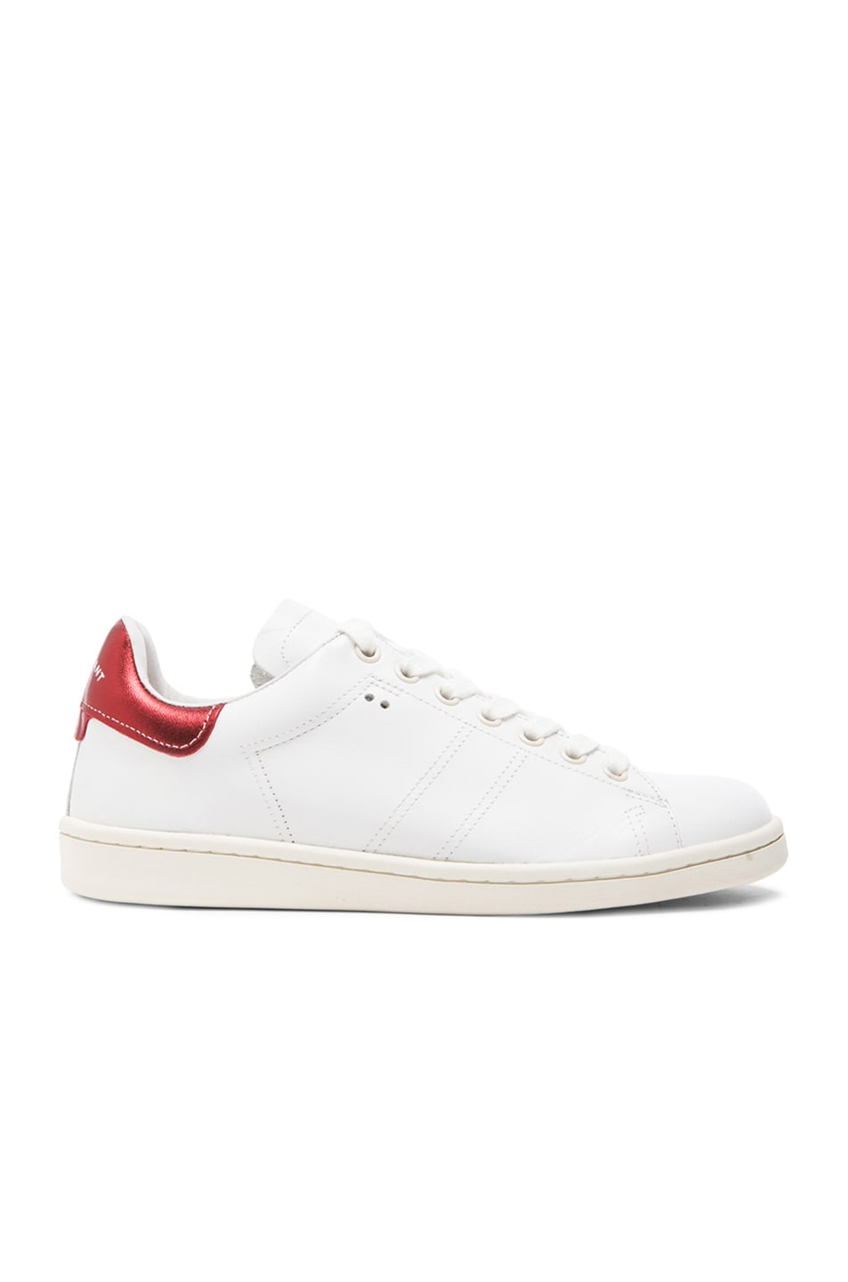 Image 1 of Isabel Marant Bart Leather Sneakers in White