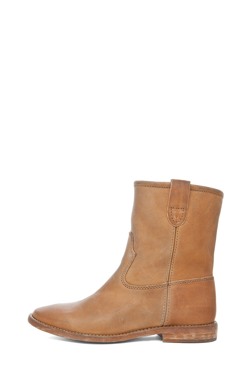 Image 1 of Isabel Marant Jenny Calfskin Leather Boots in Naturel