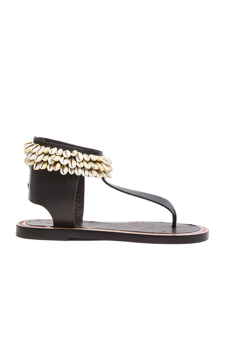 Image 1 of Isabel Marant Jean Cauri Leather Sandals in Black