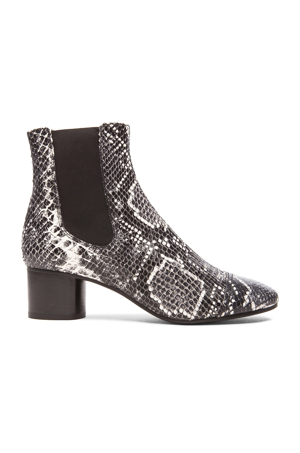 Image 1 of Isabel Marant Danae Printed Python Leather Boots in Grey