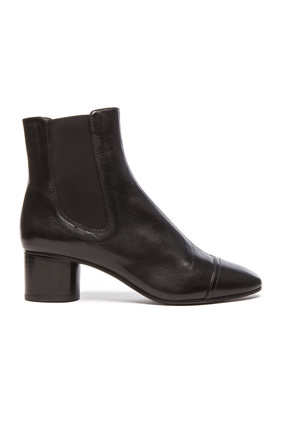 Image 1 of Isabel Marant Danae Chelsea Leather Boots in Black