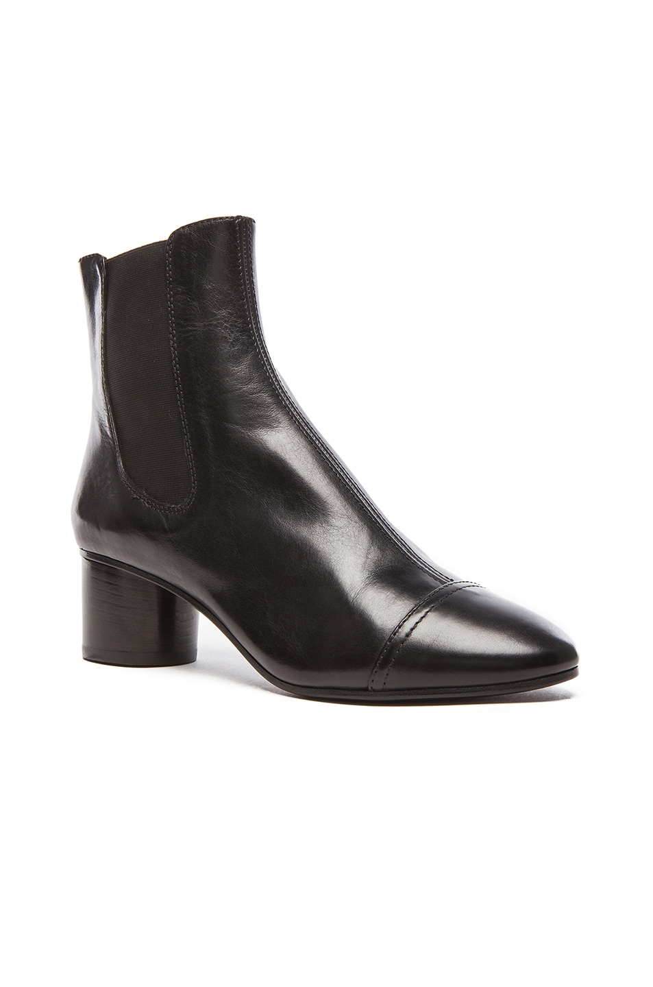 Image 2 of Isabel Marant Danae Chelsea Leather Boots in Black