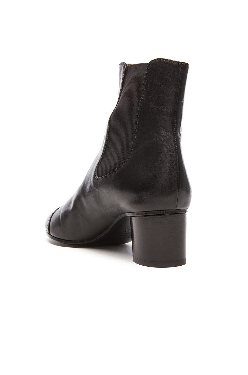 Image 3 of Isabel Marant Danae Chelsea Leather Boots in Black