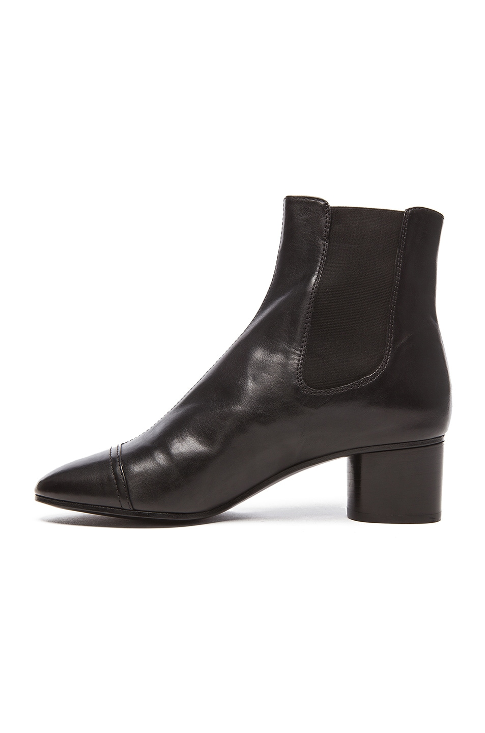 Image 5 of Isabel Marant Danae Chelsea Leather Boots in Black