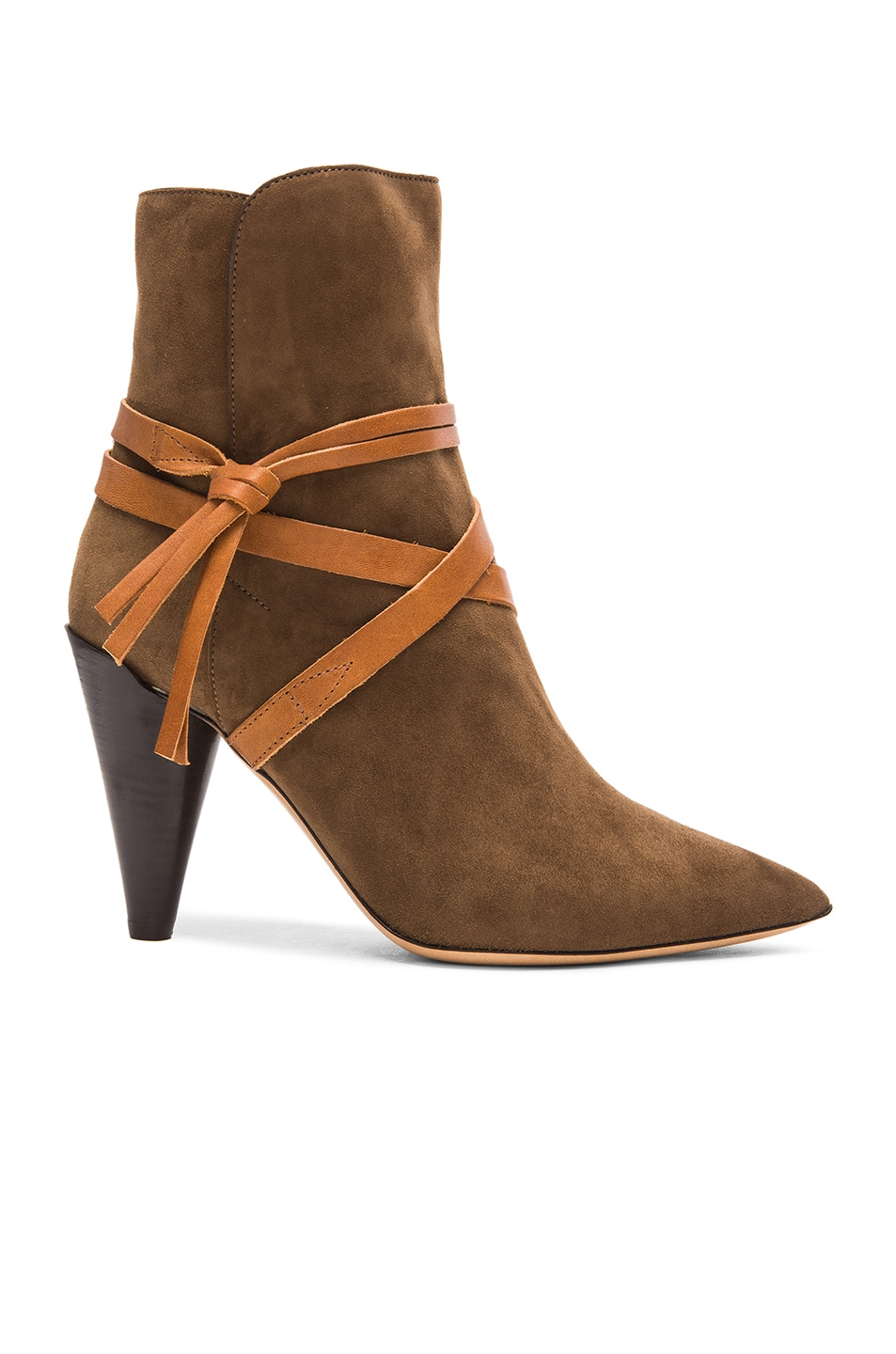 Image 1 of Isabel Marant Nerys Velvet Boots in Bronze