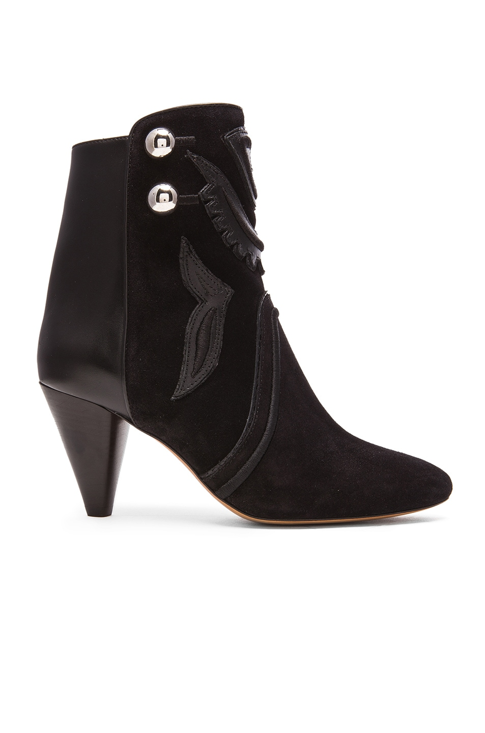 Image 1 of Isabel Marant Lola Farrah Leather Booties in Black