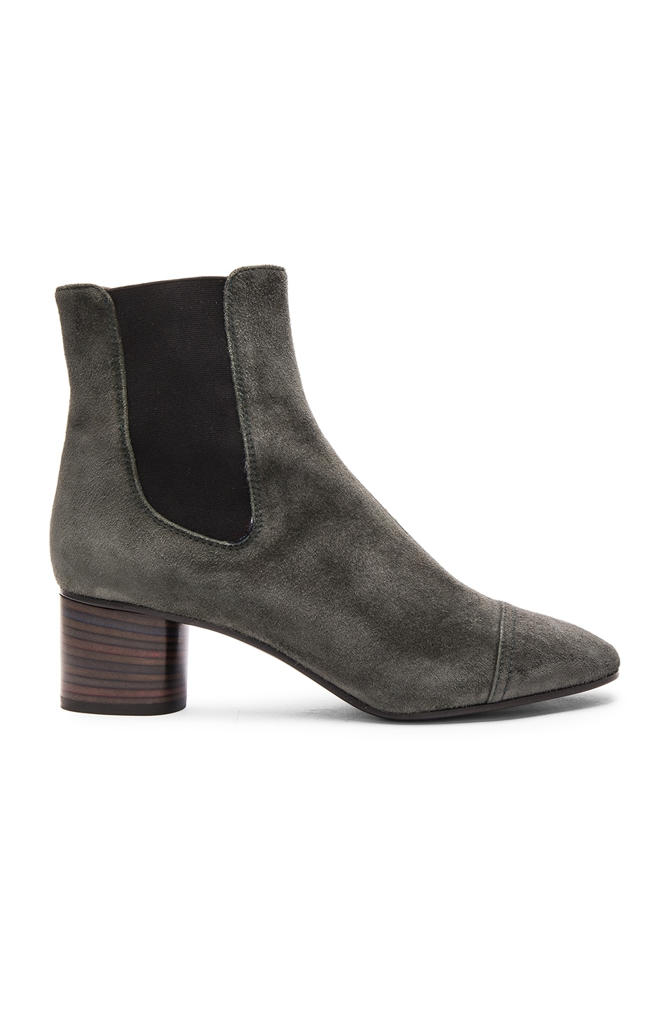 Image 1 of Isabel Marant Danae Velvet Booties in Anthracite