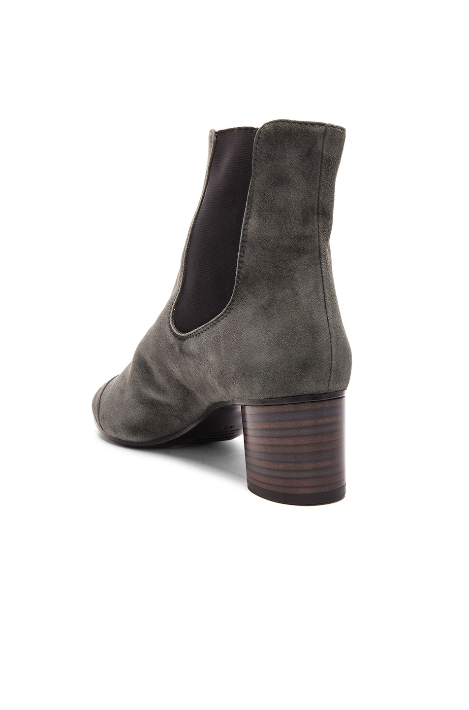 Image 3 of Isabel Marant Danae Velvet Booties in Anthracite