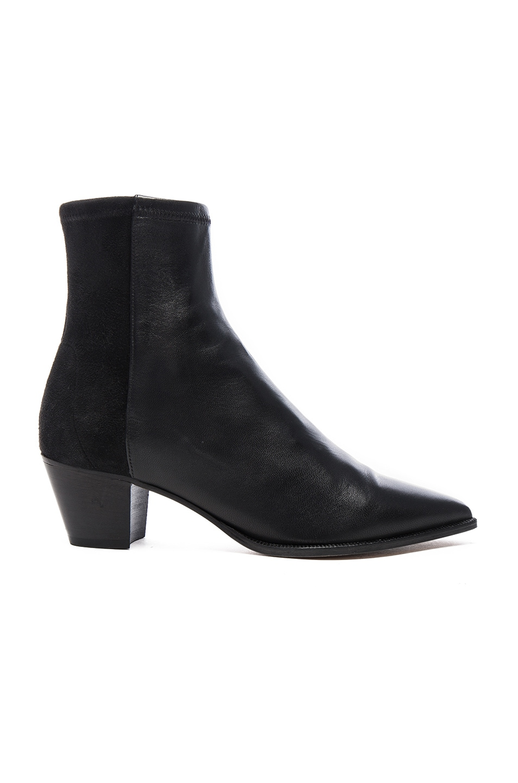 Image 1 of Isabel Marant Dabbs Velvet & Leather Boots in Black
