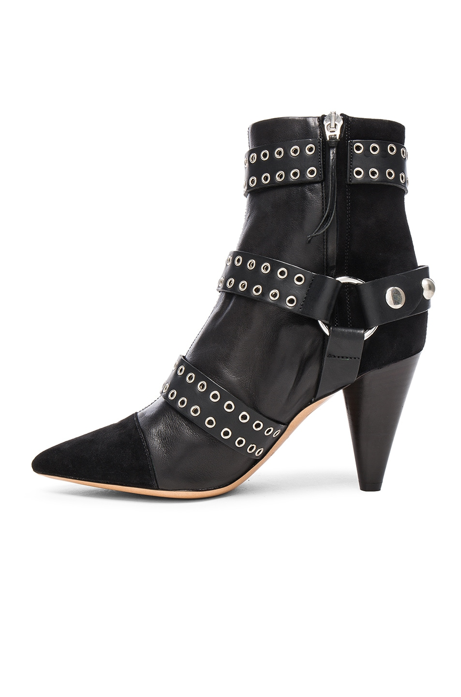 Image 5 of Isabel Marant Lysett Eyelet Boots in Black