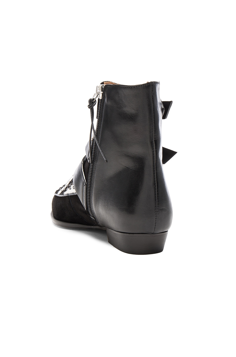 Image 3 of Isabel Marant Suede Rowi Mods Boots in White & Black