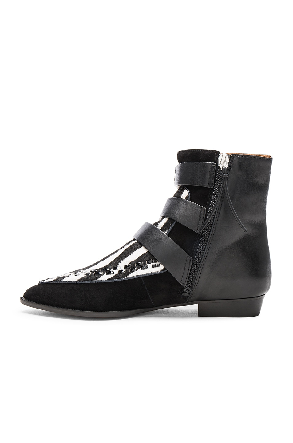 Image 5 of Isabel Marant Suede Rowi Mods Boots in White & Black
