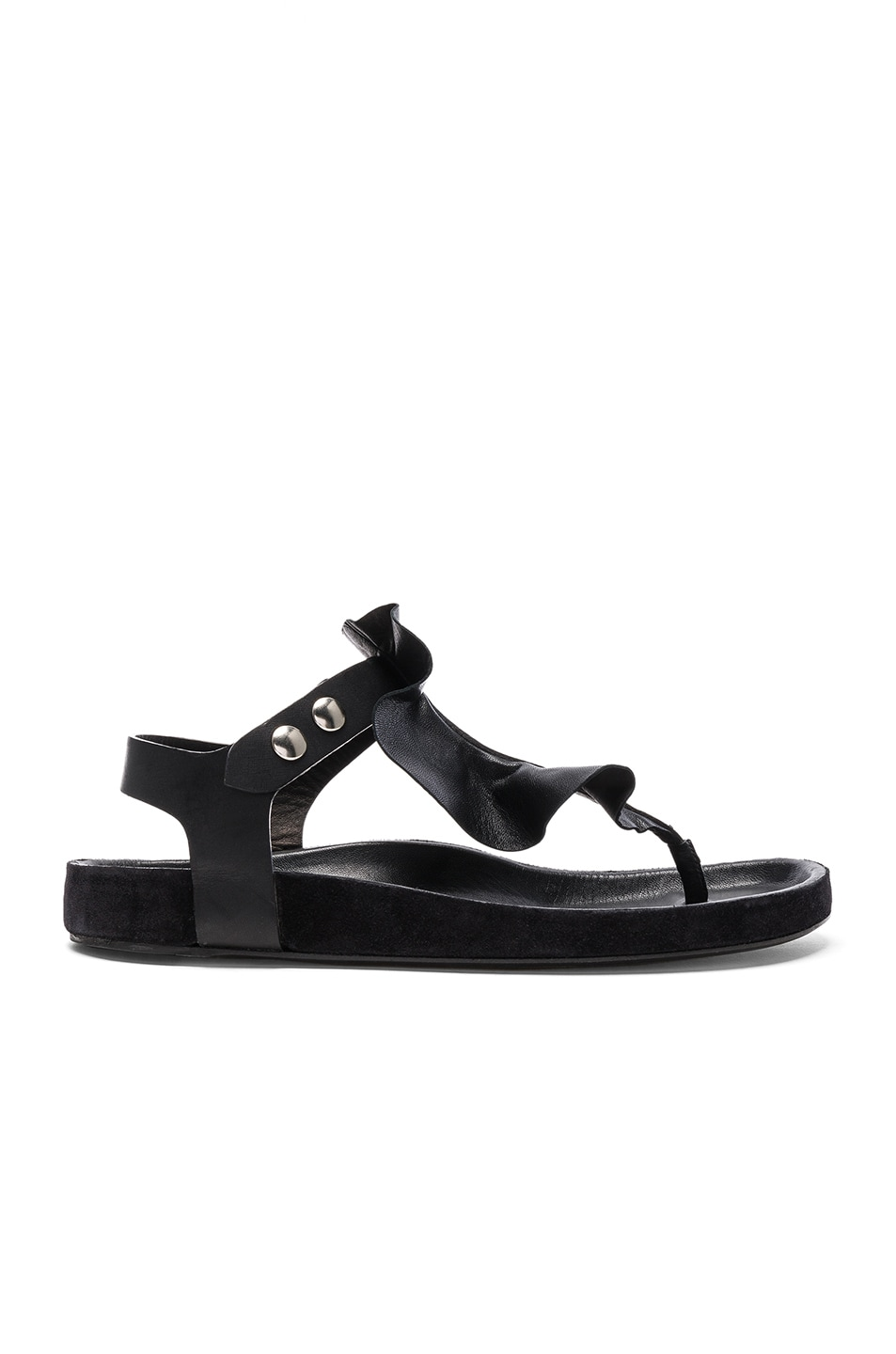 Image 1 of Isabel Marant Leather Leakey Sandals in Black