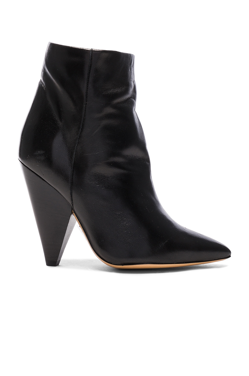 Image 1 of Isabel Marant Leather Leydoni Booties in Black