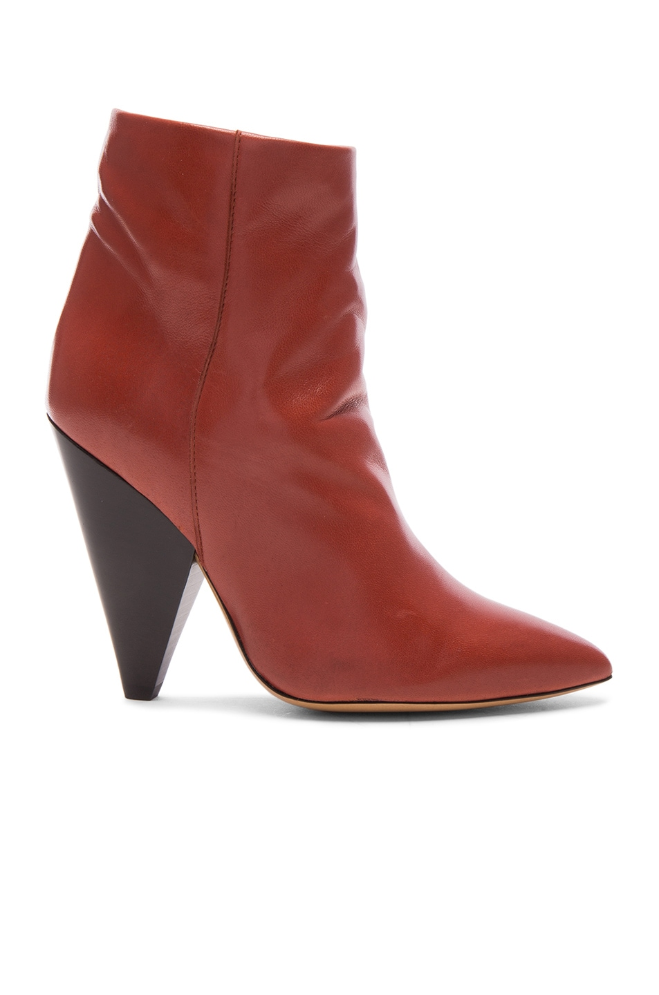 Image 1 of Isabel Marant Leather Leydoni Booties in Rust