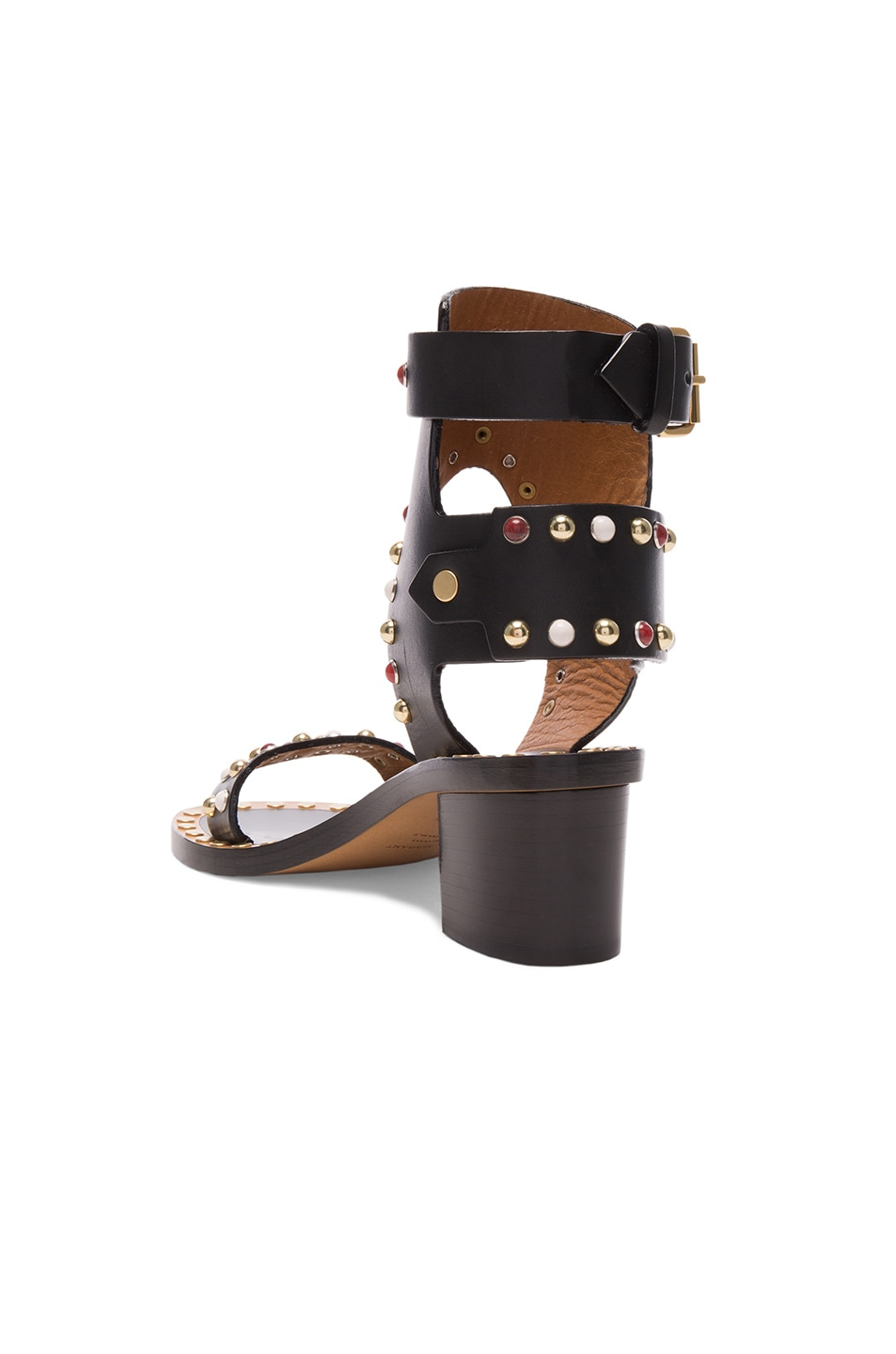 Image 3 of Isabel Marant Leather Jaeryn Sandals in Black