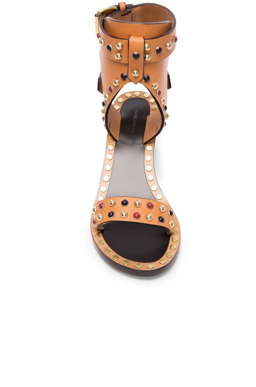 Image 4 of Isabel Marant Leather Jaeryn Sandals in Natural