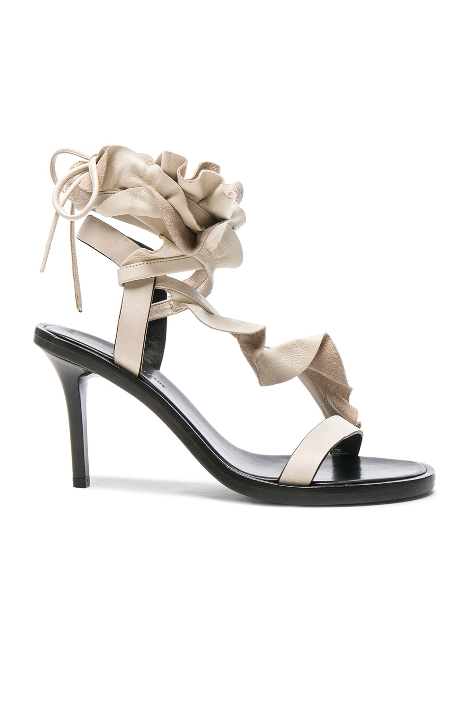 Image 1 of Isabel Marant Leather Ansel Heels in Ecru