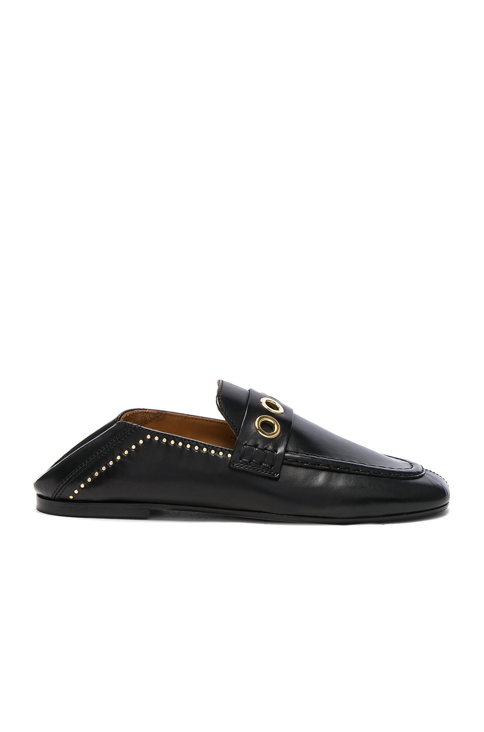 Image 1 of Isabel Marant Leather Fosten Loafers in Black