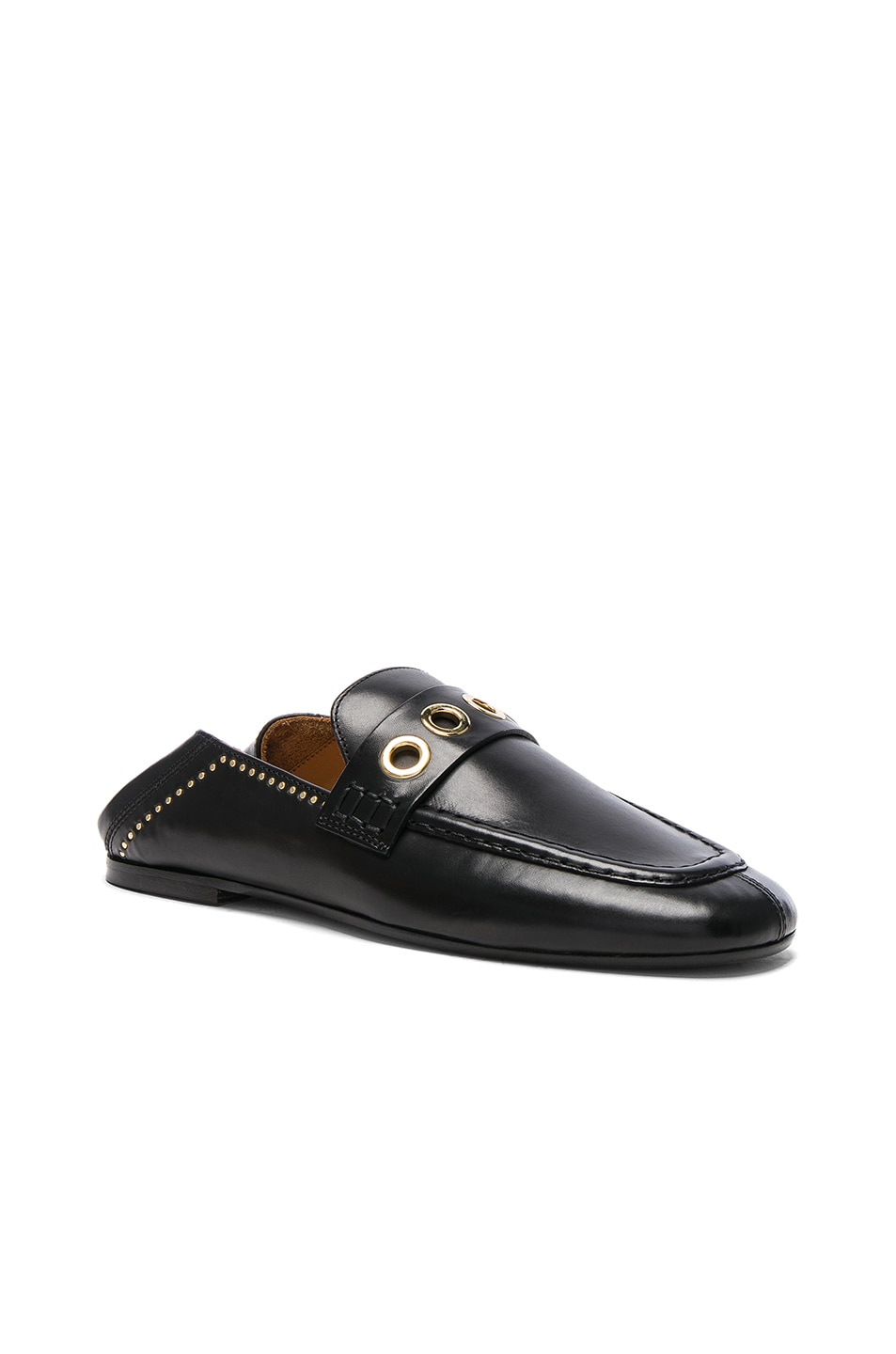 Image 2 of Isabel Marant Leather Fosten Loafers in Black