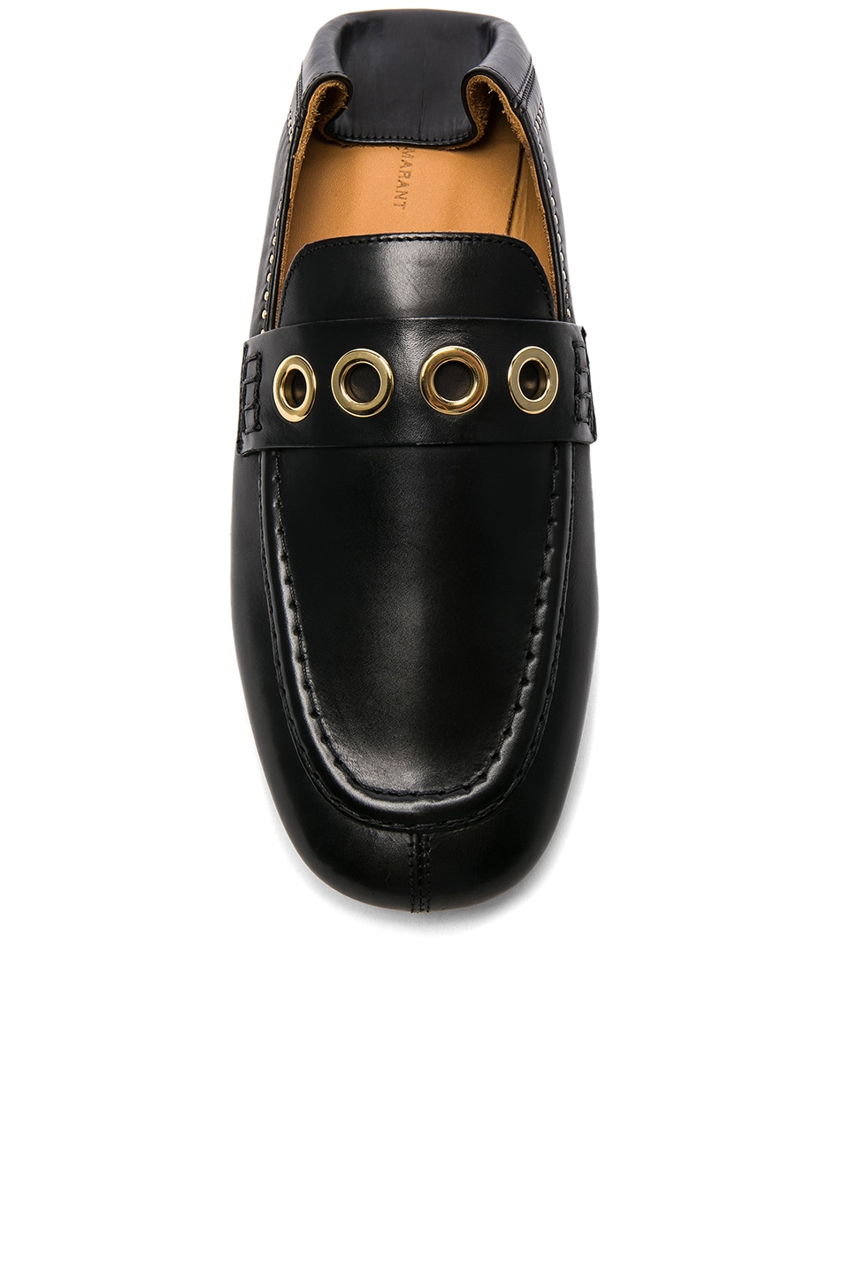 Image 4 of Isabel Marant Leather Fosten Loafers in Black