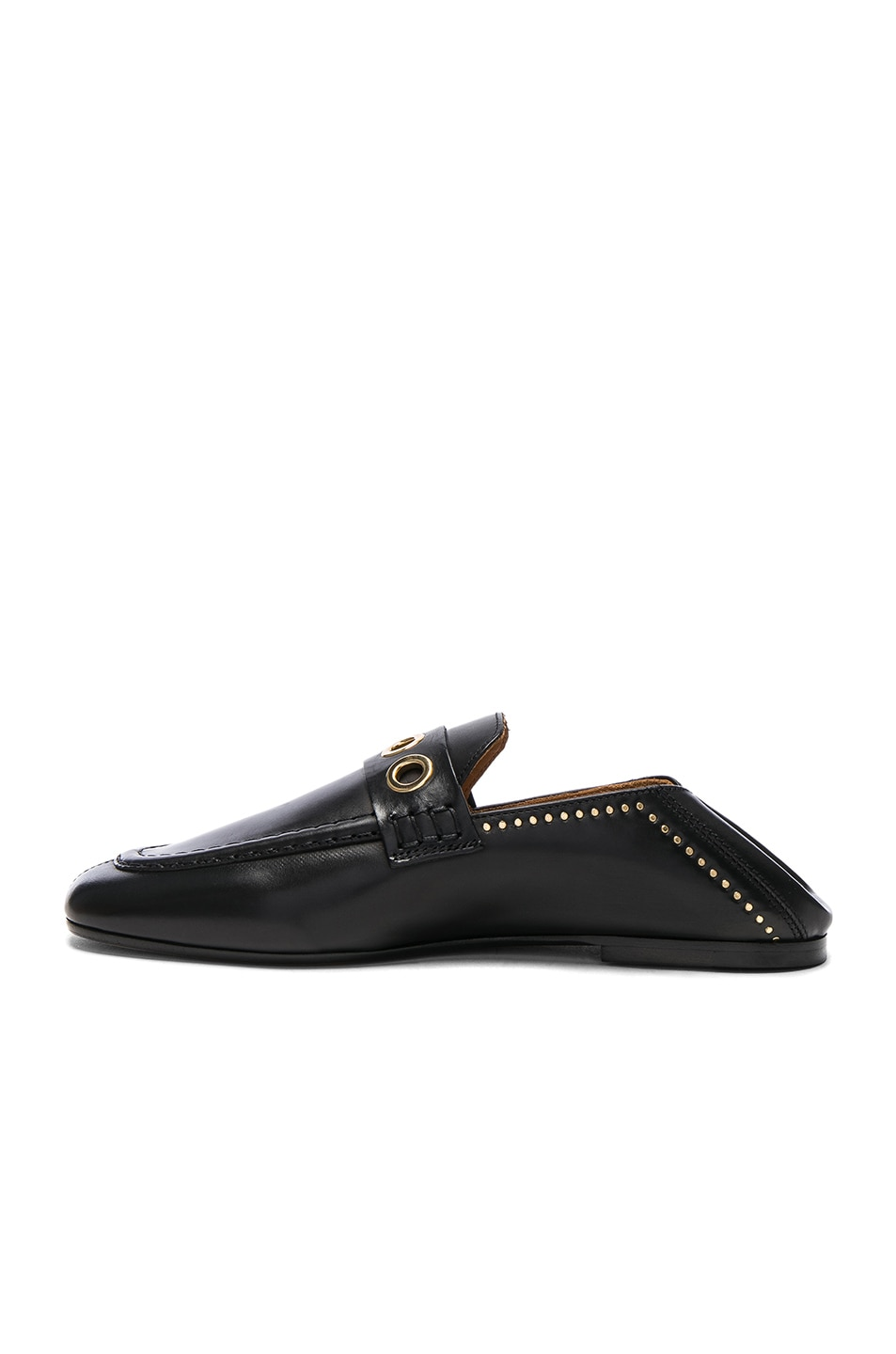 Image 5 of Isabel Marant Leather Fosten Loafers in Black