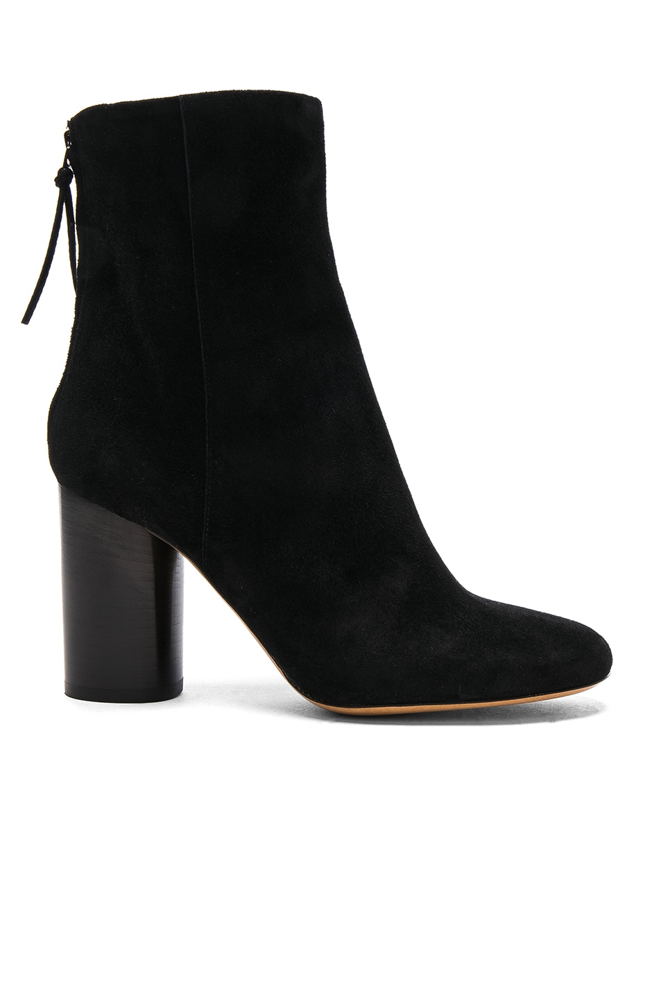 Image 1 of Isabel Marant Garett Velvet Boots in Black