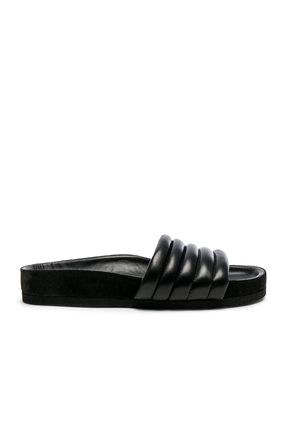 Image 1 of Isabel Marant Hellea Padded Leather Sandals in Black