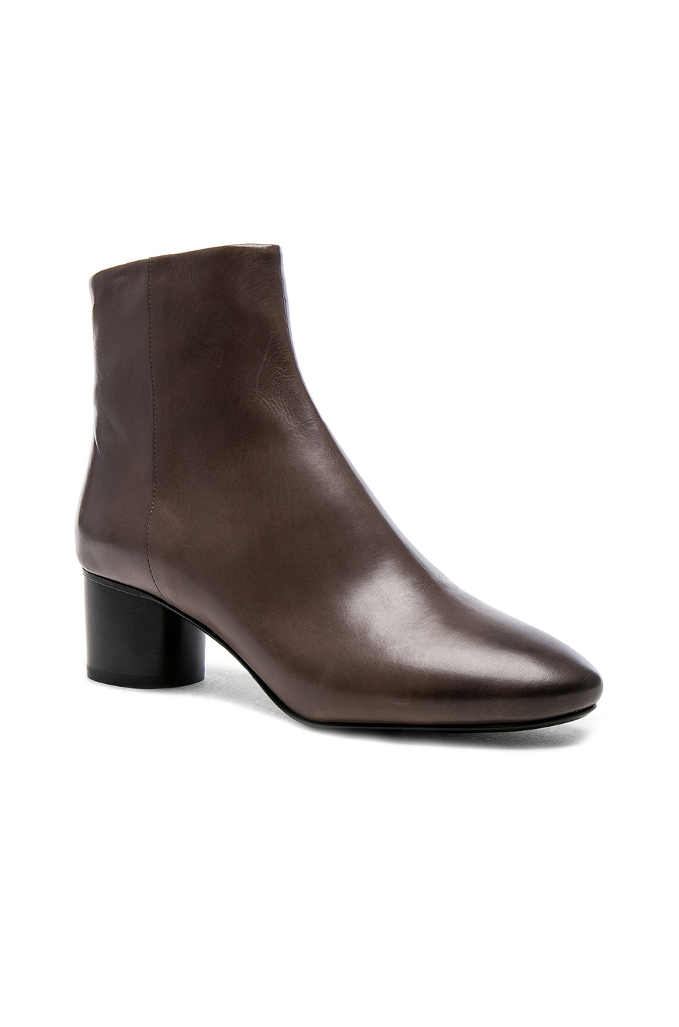 Image 2 of Isabel Marant Leather Danay Boots in Taupe