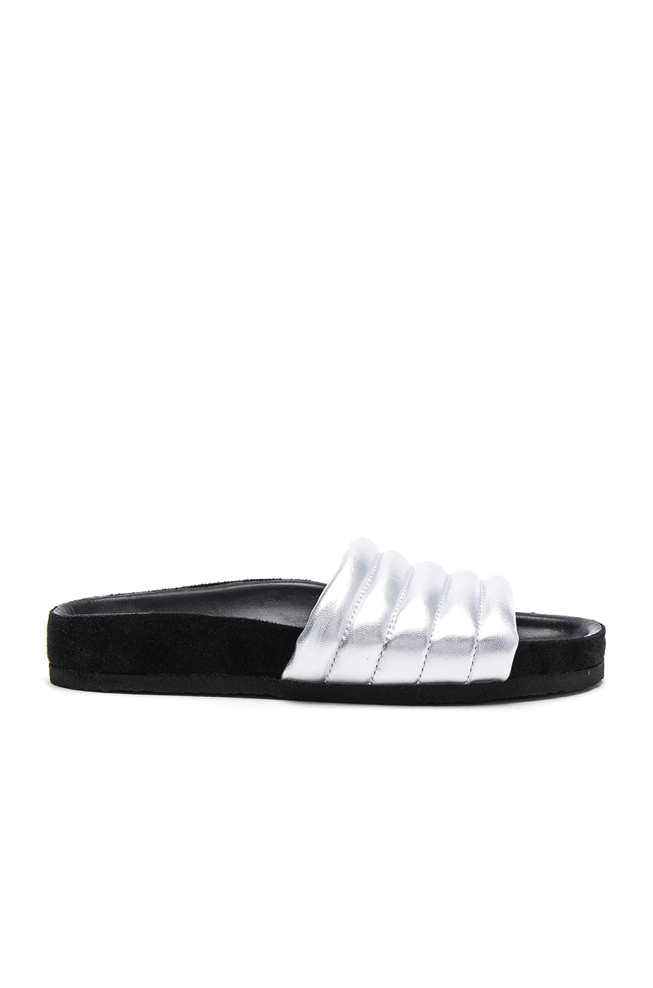 Image 1 of Isabel Marant Padded Leather Hellea Sandals in Silver
