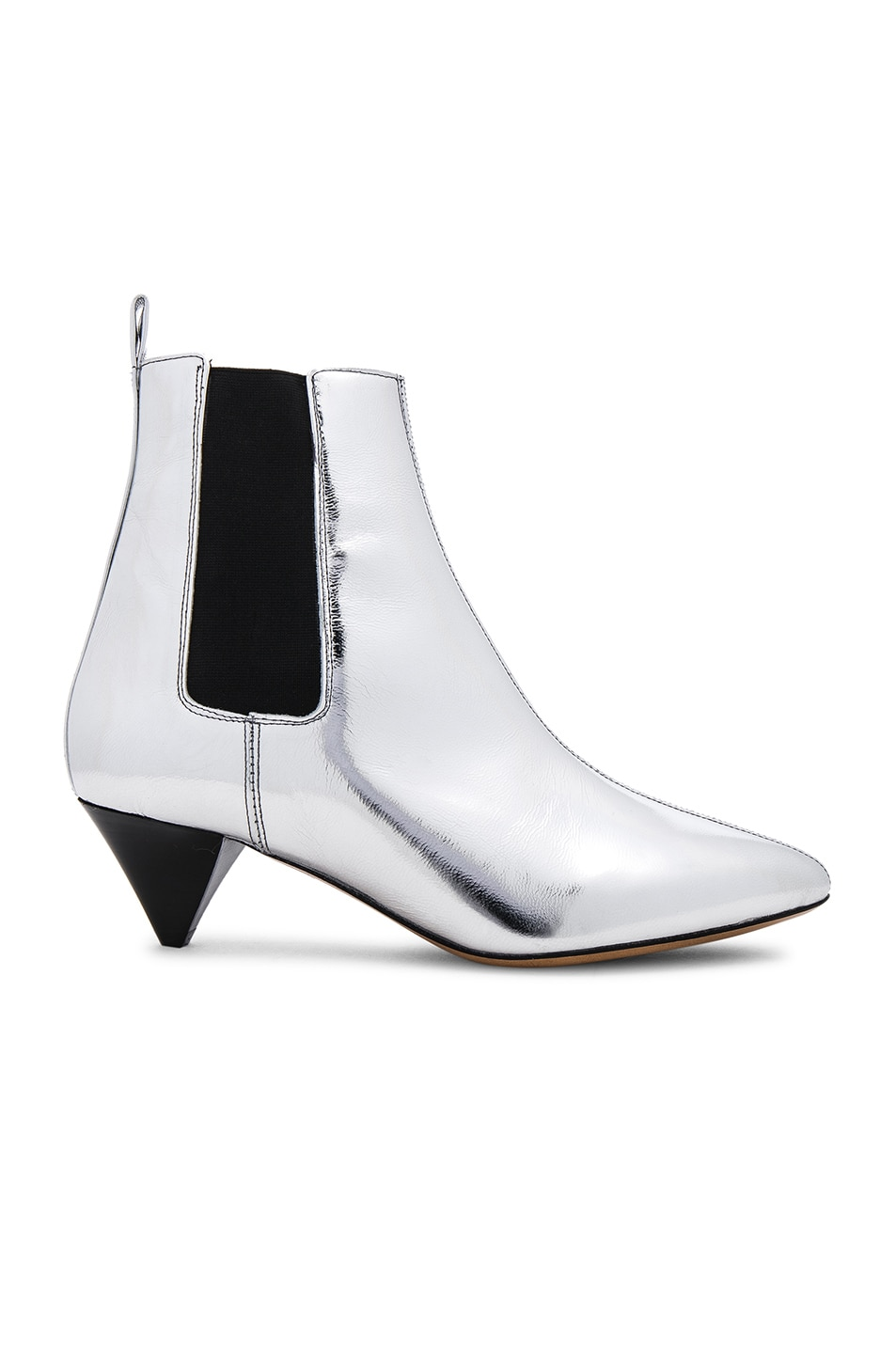 Image 1 of Isabel Marant Metallic Leather Dawell New Vintage Booties in Silver