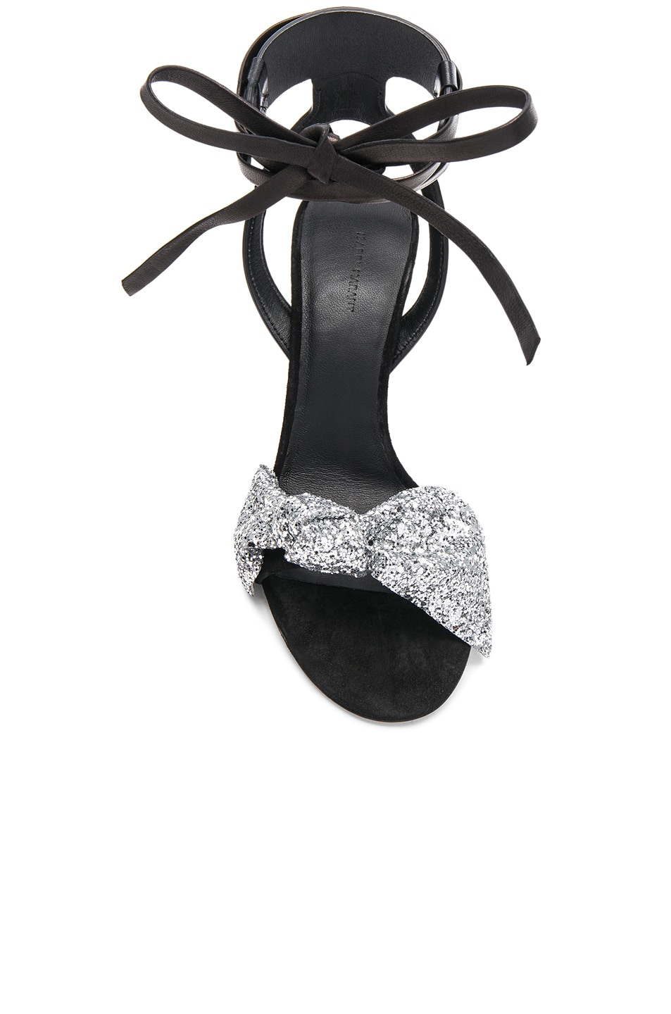 Image 4 of Isabel Marant Glitter Akynn Ankle Strap Sandals in Silver