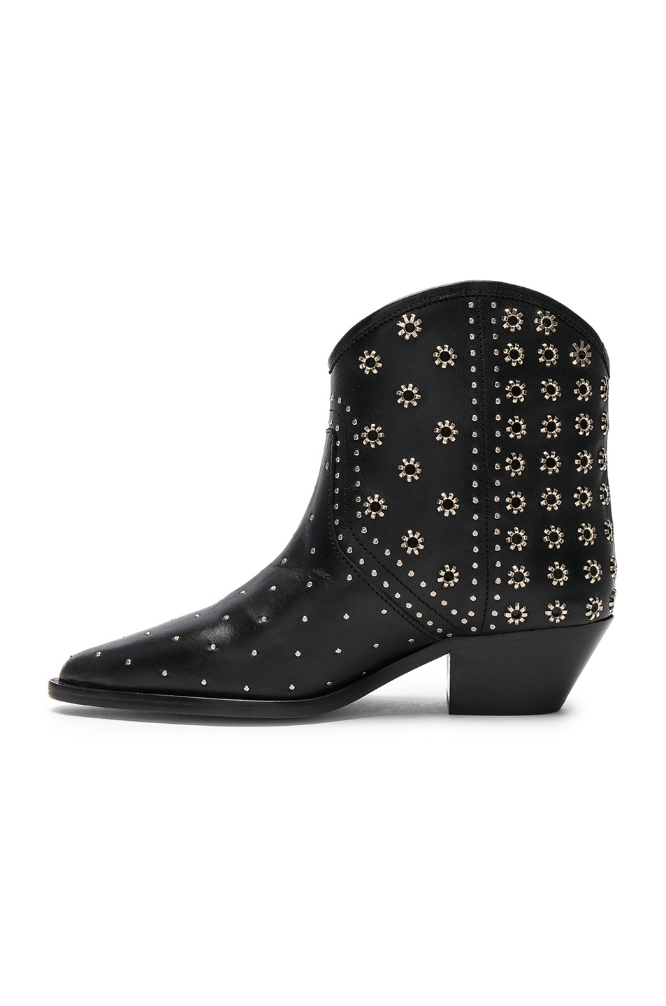Ankle Boots Isabel Marant Isabel marant domya studded leather ankle boots in black fwrd image 5 of isabel marant domya studded leather ankle boots in black sisterspd