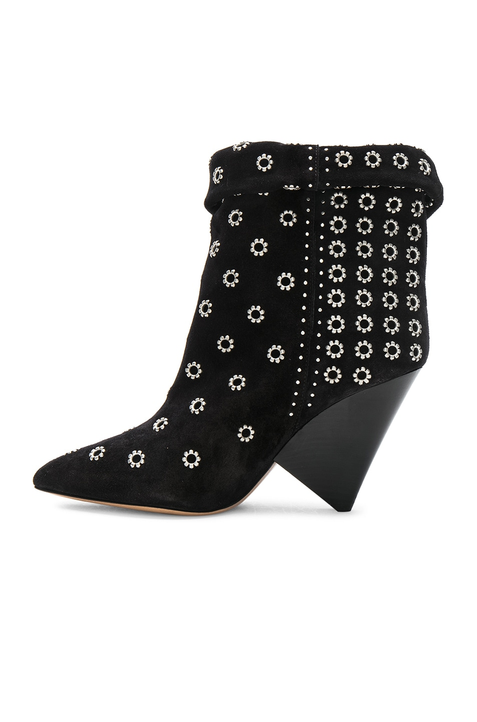 Isabel Marant Studded Suede Lakky Ankle Boots in . T5Tbl