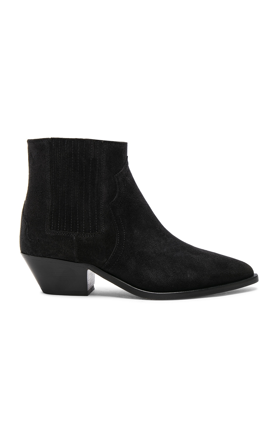 Image 1 of Isabel Marant Suede Derlyn Low Boots in Faded Black
