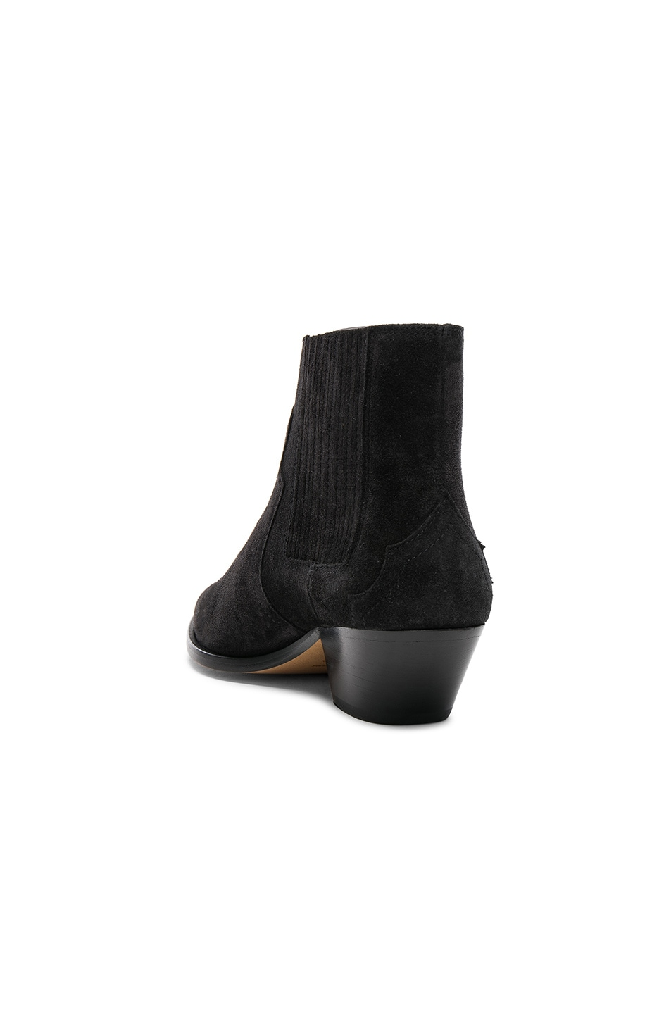 Image 3 of Isabel Marant Suede Derlyn Low Boots in Faded Black