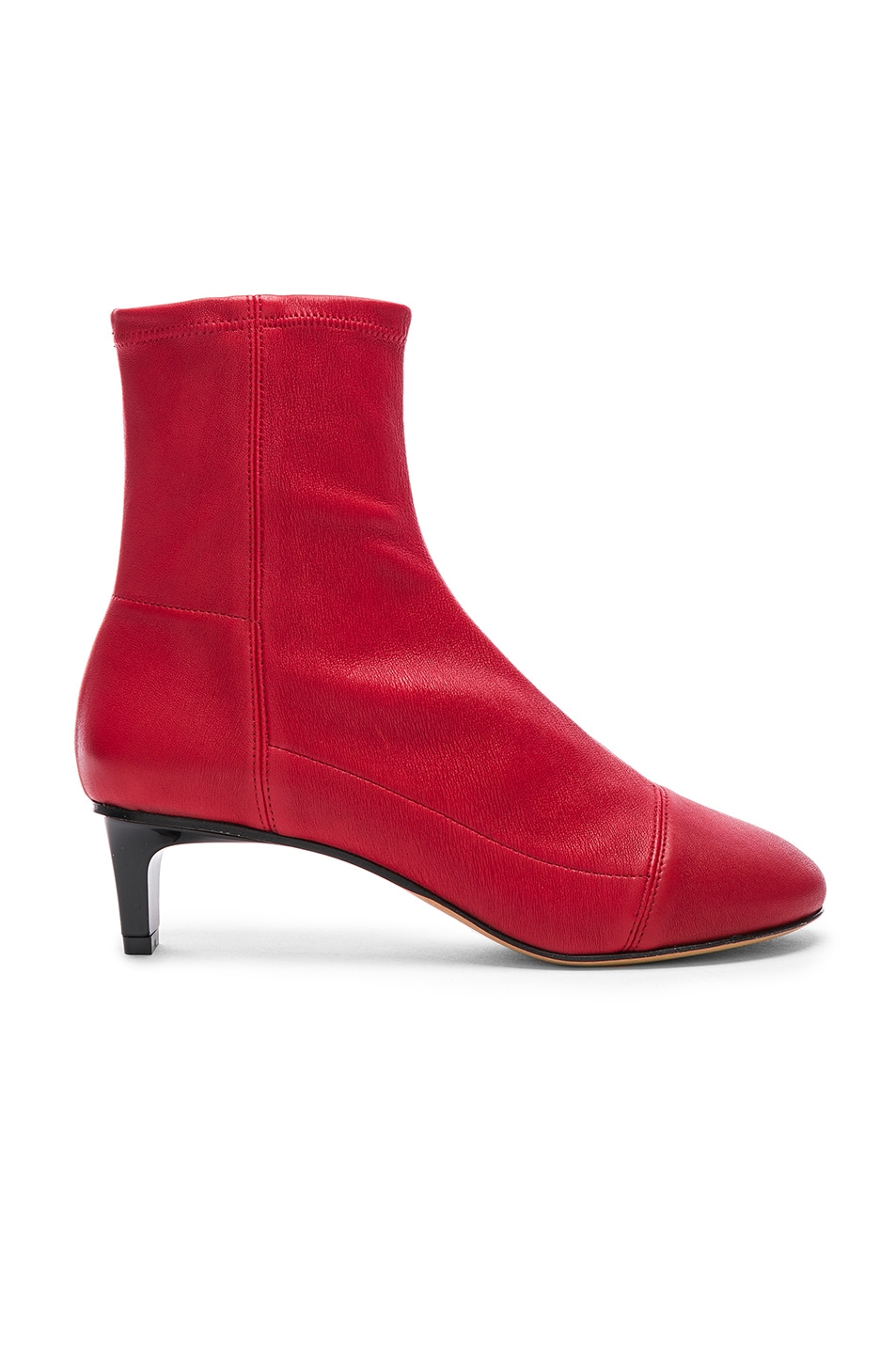Image 1 of Isabel Marant Daevel Sock Boots in Red