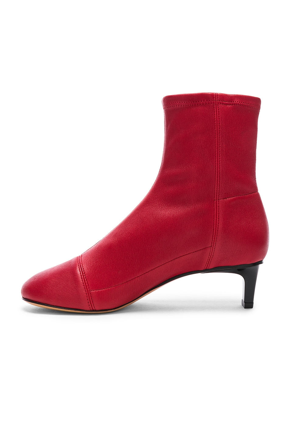 Image 5 of Isabel Marant Daevel Sock Boots in Red