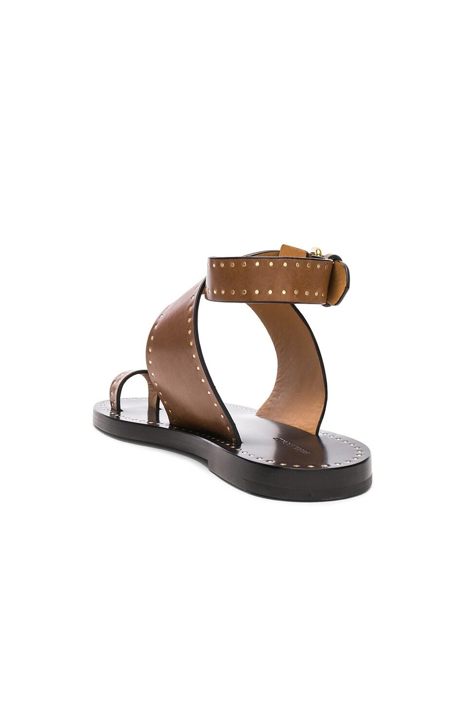 9e186beb5 Isabel Marant Jools Embellished Leather Sandals In Tan-Brown