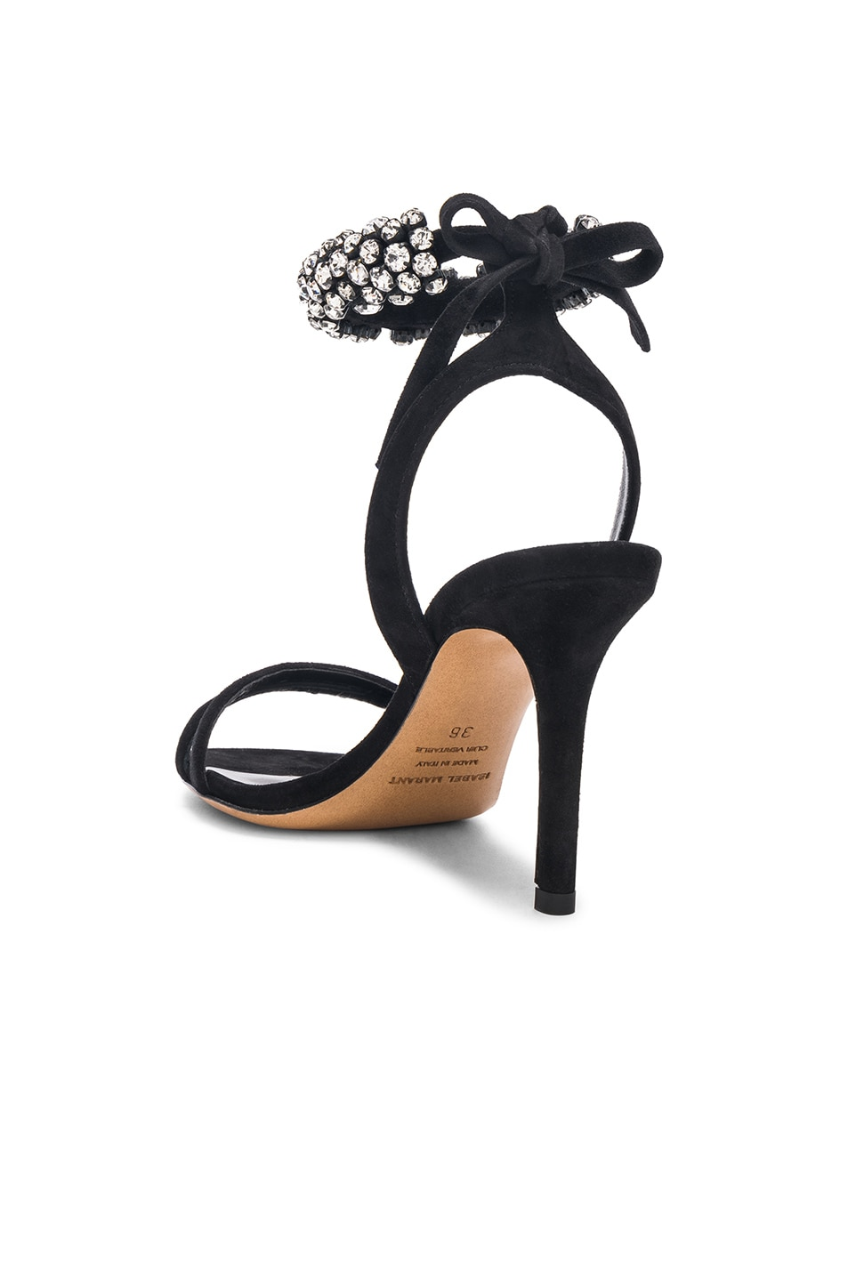 Image 3 of Isabel Marant Suede Alrin Sandals in Black
