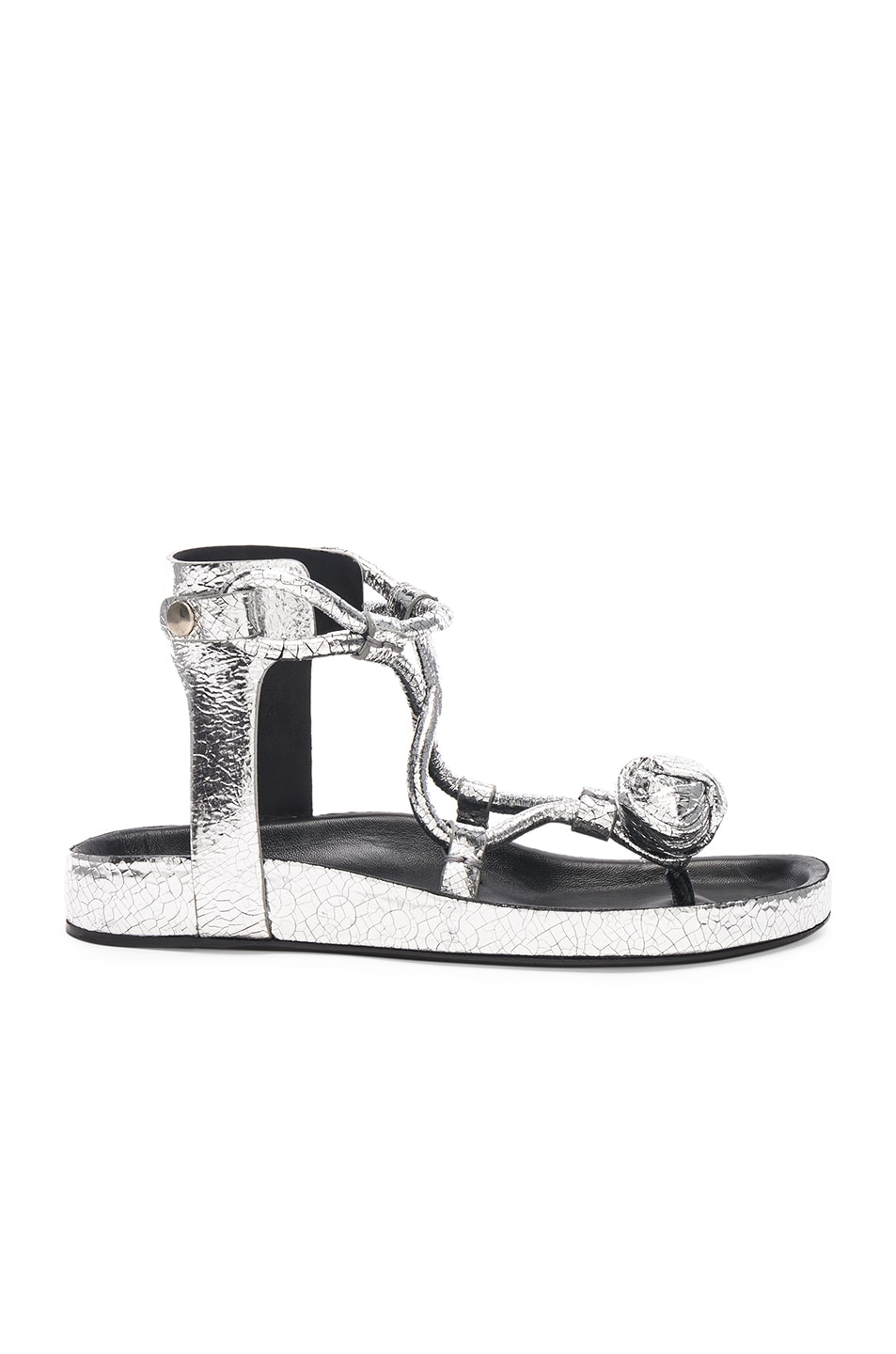 Isabel Marant Metallic Leather Either Sandals in . ubTIst4b8X