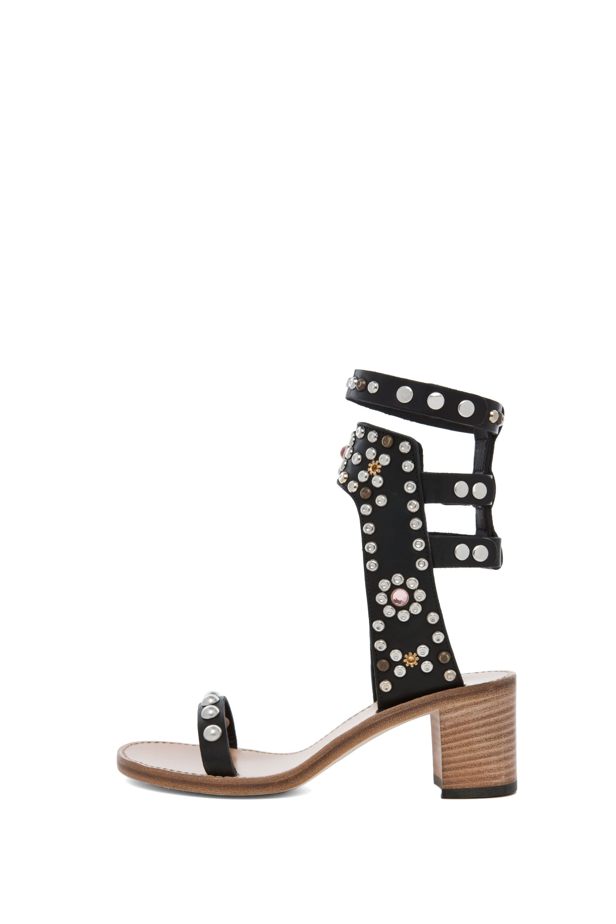 Image 1 of Isabel Marant Caroll Strassed and Studded Sandals in Black