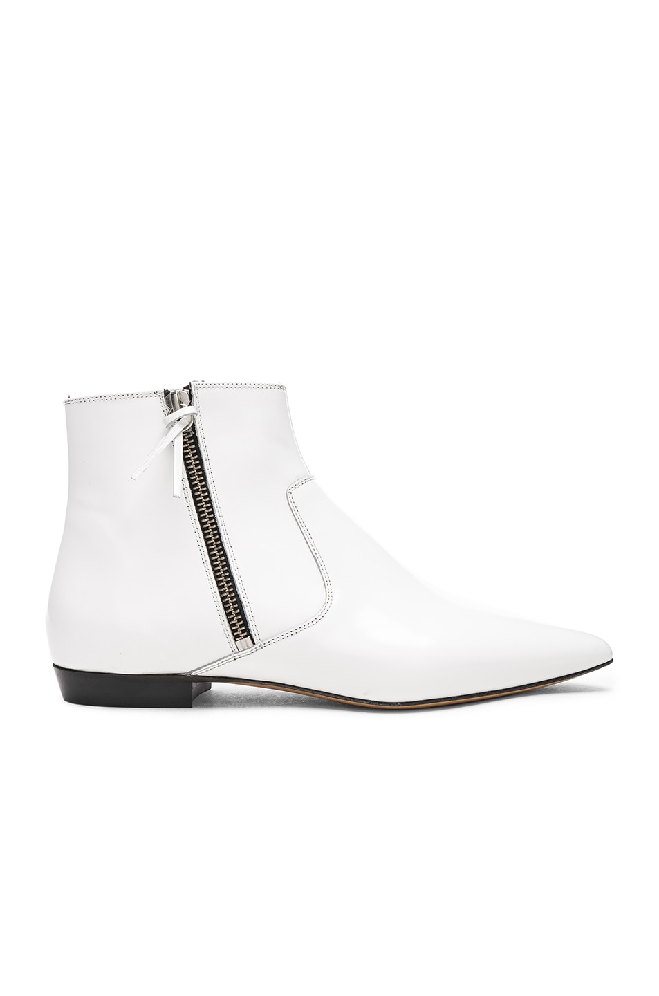 Image 1 of Isabel Marant Leather Dawie Boots in White