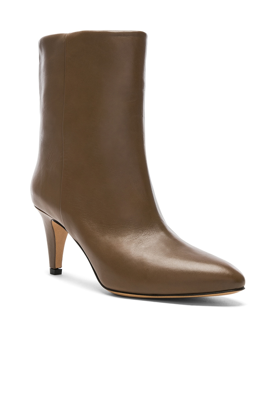 Image 2 of Isabel Marant Leather Dailan Boots in Brown
