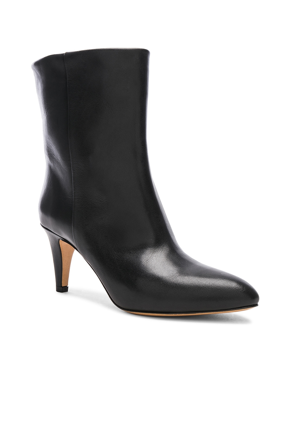 Image 2 of Isabel Marant Leather Dailan Boots in Black
