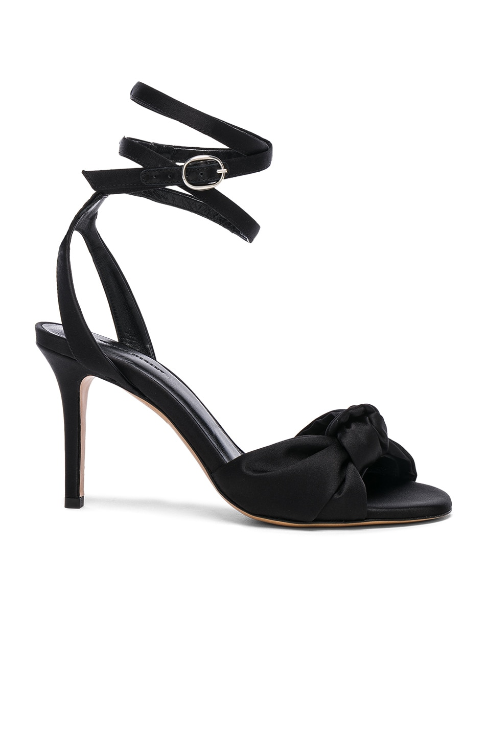 Image 1 of Isabel Marant Satin Abenya Heels in Black