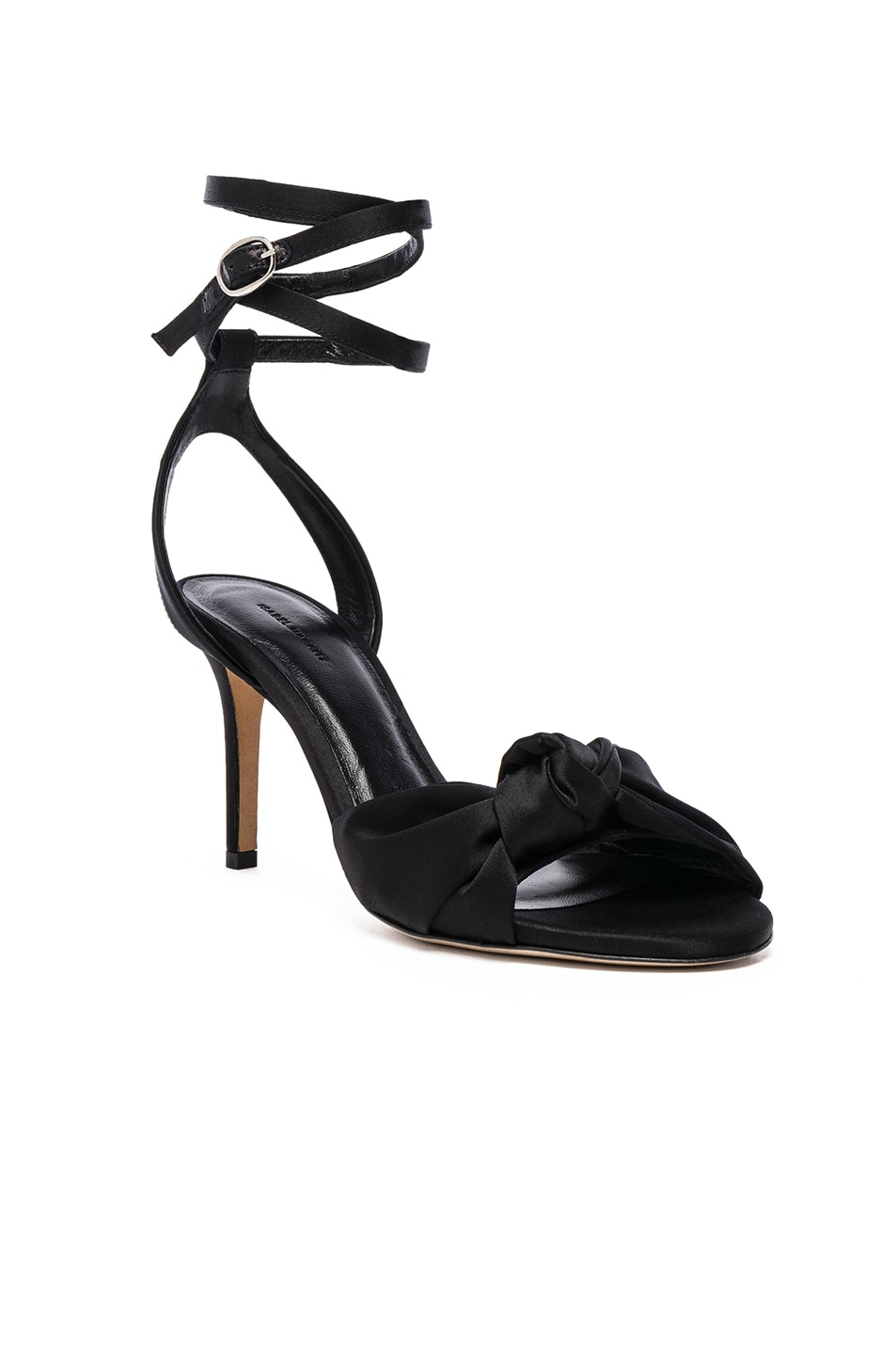 Image 2 of Isabel Marant Satin Abenya Heels in Black