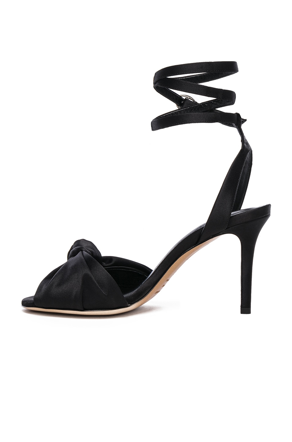 Image 5 of Isabel Marant Satin Abenya Heels in Black
