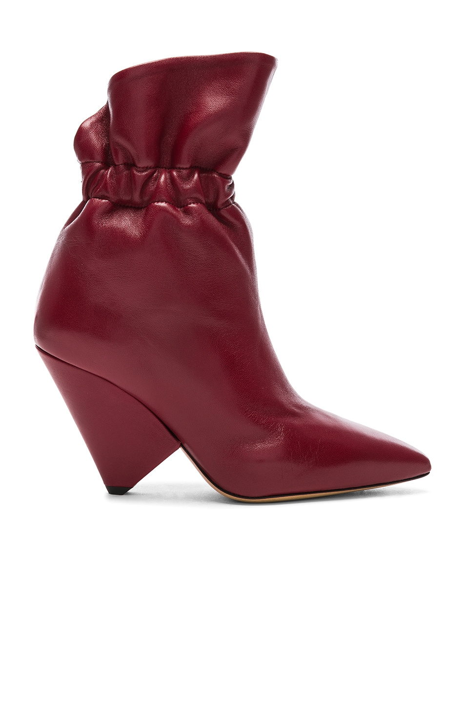 Image 1 of Isabel Marant Leather Lileas Boots in Burgundy